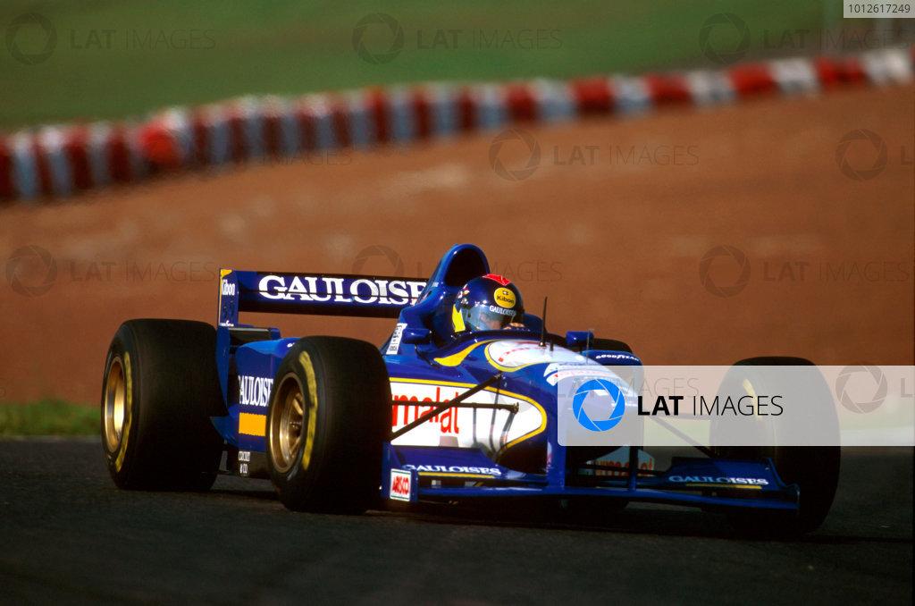 Interlagos, Brazil.29-31 March 1996.Pedro Diniz (Ligier JS43 Mugen-Honda) 8th position.Ref-96 BRA 14.World Copyright - LAT Photographic