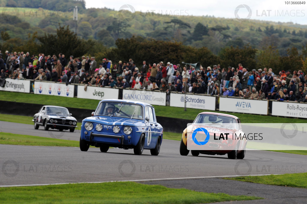 Goodwood Estate, West Sussex, 15th - 18th September 2011 St Mary's Trophy Race 2 Rae DAVIS, Renault 8 Gordini, leads Tim DUTTON, Alfa Romeo 1600 GTA. World Copyright:Jeff Bloxham/LAT Photographic Ref: Digital Image
