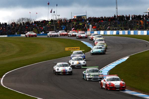 2017 Porsche Carrera Cup, Donington Park, 15th-16th April 2017, Lewis Plato (GBR) JTR Porsche Carrera Cup World Copyright. JEP/LAT Images