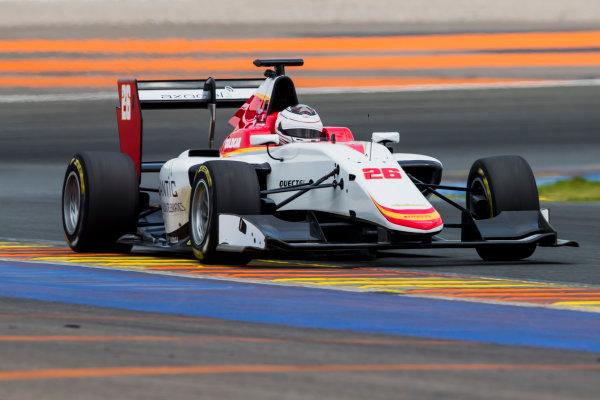 2016 GP3 Series Test 3. Circuit Ricardo Tormo, Valencia, Spain. Wednesday 26 April 2017. Julien Falchero (FRA, Campos Racing)  Photo: Zak Mauger/GP3 Series Media Service. ref: Digital Image _54I2771