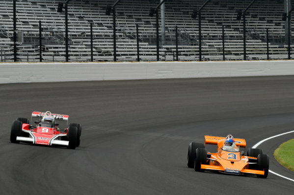Verizon IndyCar Series Indianapolis 500 Practice Indianapolis Motor Speedway, Indianapolis, IN USA Saturday 27 May 2017 Johnny Rutherford and Mario Andretti  World Copyright: Scott R LePage LAT Images