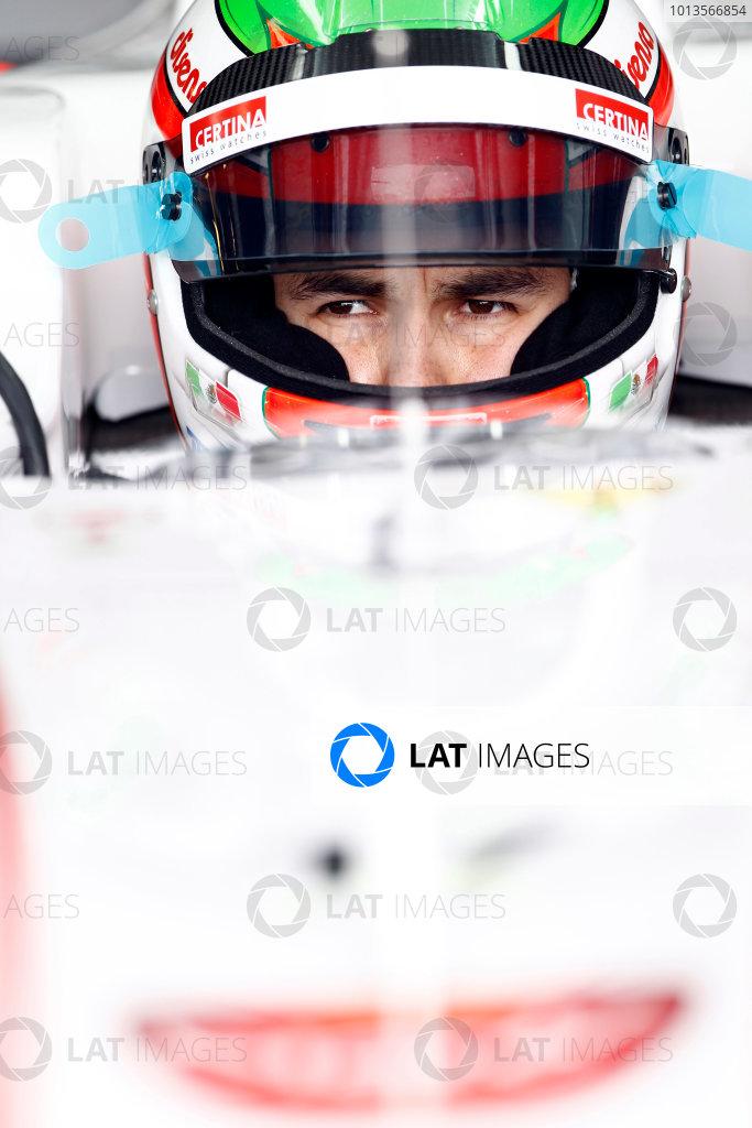 Albert Park, Melbourne, Australia 25th March 2011. Sergio Perez, Sauber C30 Ferrari.Portrait. Helmets.  World Copyright: Andrew Ferraro/LAT Photographic ref: Digital Image