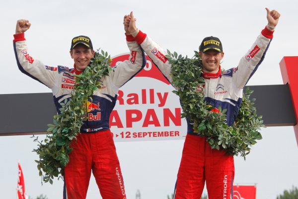 Winner Rally Japan, Podium, Sebastien Ogier (FRA), Julien Ingrassia (FRA), Citroen 2010 FIA World Rally Championship Round Rally Japan 9-12/9 2010 Worldwide Copyright: McKlein/LAT