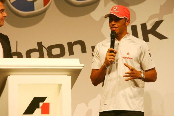 Lewis Hamilton (GBR) McLaren. F1 in Schools World Championships 2009, London, England, 17 September 2009.