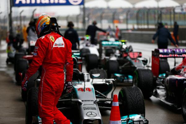 Shanghai International Circuit, Shanghai, China. Saturday 19 April 2014. Fernando Alonso, Ferrari. World Copyright: Andy Hone/LAT Photographic. ref: Digital Image _ONZ5366