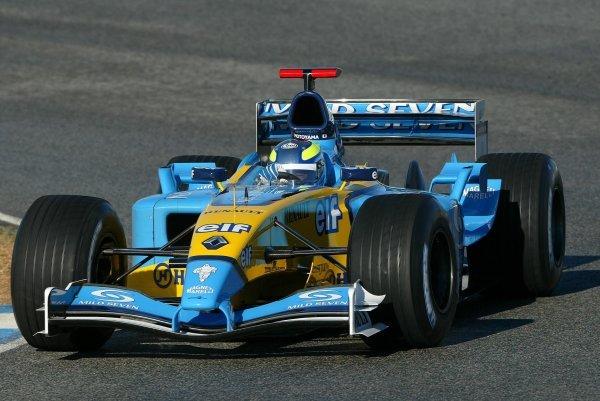 Satoshi Motoyama (JPN) makes his debut with RenaultFormula One Testing, Jerez, Spain, 9-11  December 2003.DIGITAL IMAGE