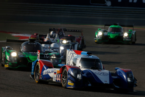 2015 FIA World Endurance Championship Bahrain 6-Hours Bahrain International Circuit, Bahrain Saturday 21 November 2015. Mikhail Aleshin, Nicolas Minassian, David Markozov (#44 LMP2 AF Racing BR01 Nissan) leads Scott Sharp, Ryan Dalziel, David Heinemeier-Hansson (#30 LMP2 Extreme Speed Motorsports Ligier JS P2 Honda). World Copyright: Alastair Staley/LAT Photographic ref: Digital Image _79P0166