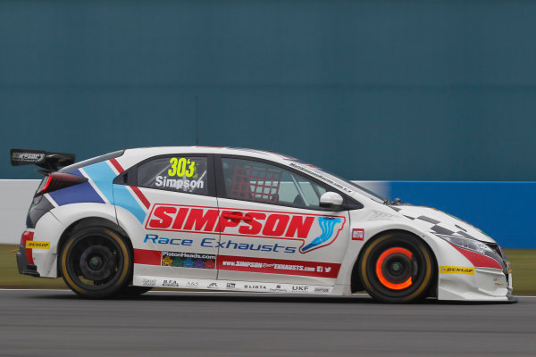2016 British Touring Car Championship, Media Day, Donington Park, 22nd March 2016, Matt Simpson (GBR) Speedworks Motorsport Honda Civic  World Copyright. Jakob Ebrey/LAT Photographic