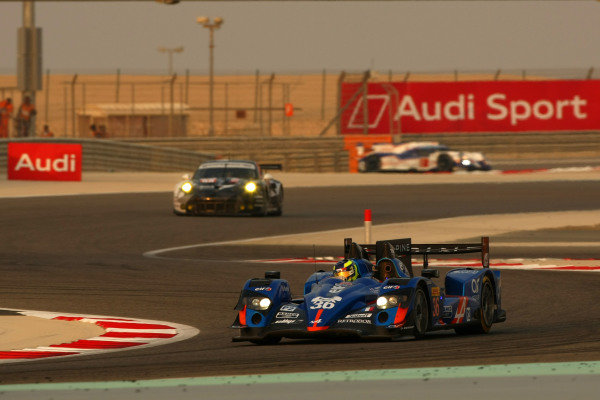 2015 FIA World Endurance Championship, Bahrain International Circuit, Bahrain. 19th - 21st November 2015. Nelson Panciatici / Paul Loup Chatin / Tom Dillmann Signatech Alpine Alpine A450b Nissan. World Copyright: Jakob Ebrey / LAT Photographic.