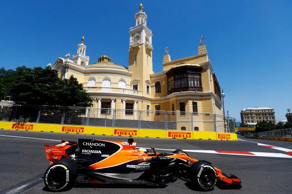 Baku City Circuit, Baku, Azerbaijan. Saturday 24 June 2017. Fernando Alonso, McLaren MCL32 Honda.  World Copyright: Steven Tee/LAT Images ref: Digital Image _R3I2729