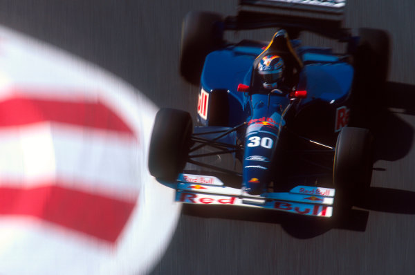 Magny-Cours, France.30/6-2/7 1995.Heinz-Harald Frentzen (Sauber C14 Ford). 10th position.Ref-95 FRA 15.World Copyright - LAT Photographic