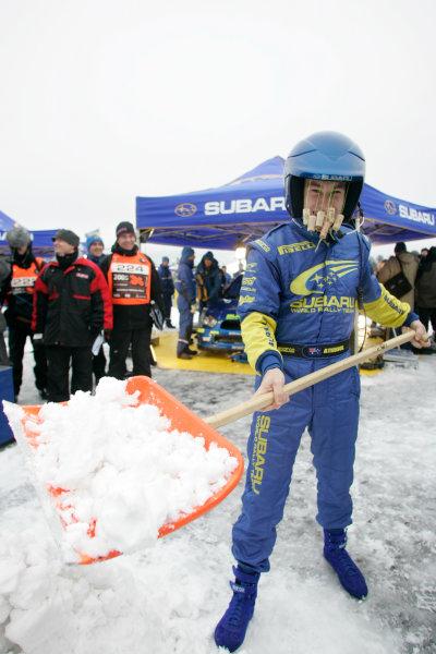 2005 FIA World Rally Champs. Round two Swedish Rally.10th-13th February 2005.Chris Atkinson, Subaru, portrait.World Copyright: McKlein/LAT