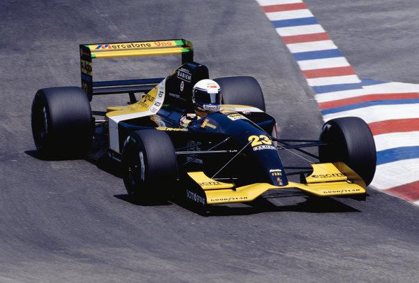 1992 German Grand Prix.Hockenheim, Germany. 24-26 July 1992.Alessandro Zanardi (Minardi 192 Lamborghini).Ref-92 GER 13.World Copyright - LAT Photographic