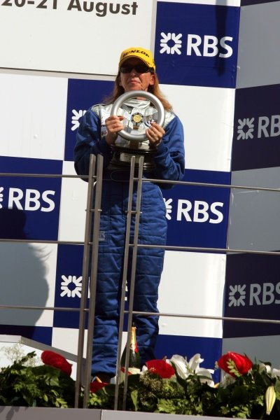 Podium finishers in the VW Polo Ladies Cup race. Turkish VW Ladies Cup, Istanbul Park, Turkey, 21 August 2005. DIGITAL IMAGE