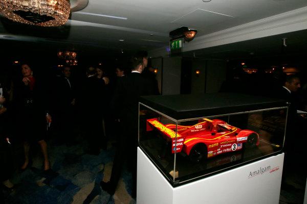 2017 Autosport Awards Grosvenor House Hotel, Park Lane, London. Sunday 3 December 2017. A model of a Momo Ferrari 333SP. World Copyright: Joe Portlock/LAT Images Ref: Digital Image _L5R7808