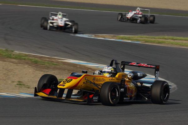 Motegi, Japan. 11th - 12th 2013. Rd 2. Race 3 - 3rd position Katsumasa Chiyo ( #50 B-MAX ENGINEERING ) action World Copyright: Yasushi Ishihara/LAT Photographic Ref: 2013JF3_Rd5_10