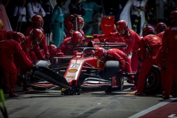 Charles Leclerc, Ferrari SF90, pit stops