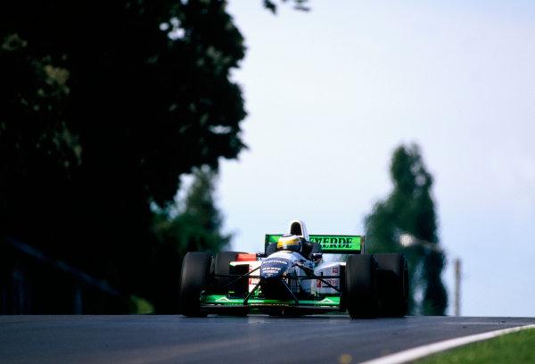 1996 San Marino Grand Prix.Imola, Italy.3-5 May 1996.Giancarlo Fisichella (Minardi M195B Ford).World Copyright - LAT Photographic