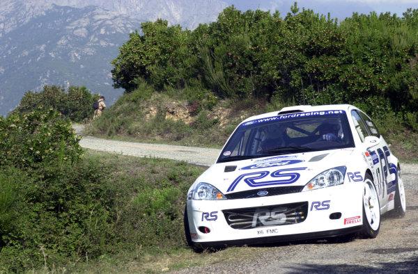 2001 World Rally Championship.Rallye de France, Ajaccio, Corsica, October 19-21.Francois Delecour during shakedown.Photo: Ralph Hardwick/LAT