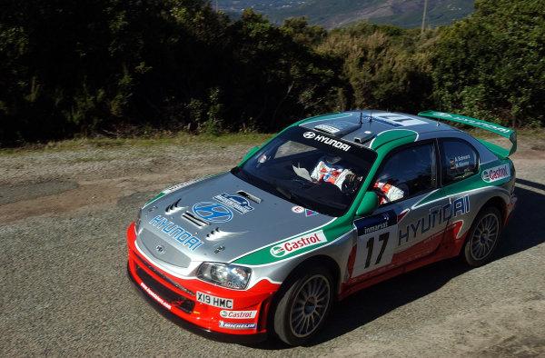 2002 World Rally ChampionshipInmarsat Corsica Rally, 8th-10th March 2002.Armin Schwarz during shakedown.Photo: Ralph Hardwick/LAT