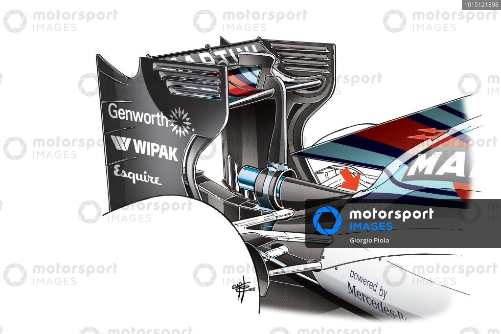 Williams FW37 engine cover