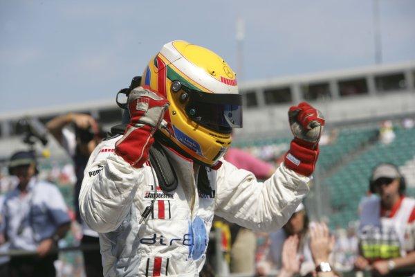2006 GP2 Series.Round 6.  Silverstone, England.  11th June 2006.  Sunday race.  Lewis Hamilton (GBR, ART Grand Prix) race winner. World Copyright: Andrew Ferraro/GP2 Series Media Service. Ref: Digital Image Only.YY8P4334.jpg