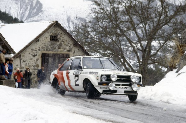 1979 World Rally Championship.Monte Carlo Rally, Monaco. 20-26 January 1979.Bjorn Waldegaard/Hans Thorszelius (Ford Escort RS), 2nd position.World Copyright: LAT PhotographicRef: 35mm transparency 79RALLY19
