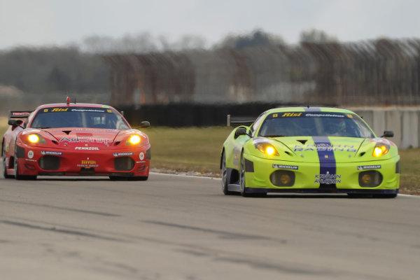 17-20 March 2010, Sebring, Florida, USA#61 Krohn Racing Ferrari 430 GT and #62 Ferrari.©Dan R. Boyd, USA LAT Photographic