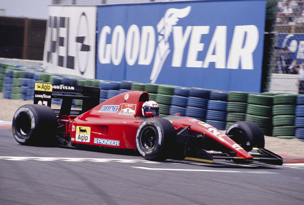 1991 French Grand Prix.Magny-Cours, France.5-7 July 1991.Alain Prost (Ferrari 643) 2nd position.Ref-91 FRA 21.World Copyright - LAT Photographic