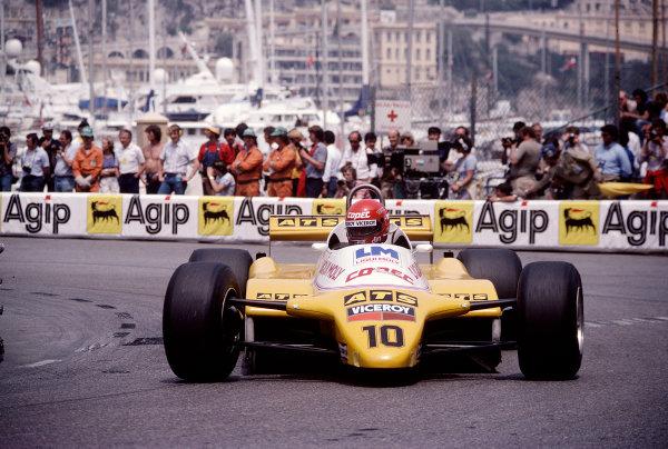 1982 Monaco Grand Prix.Monte Carlo, Monaco.20-23 May 1982.Eliseo Salazar (ATS D5 Ford).Ref-82 MON 83.World Copyright - LAT Photographic