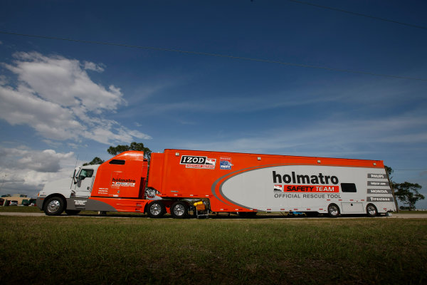 5-9 March, 2012, Sebring, Florida, USAHolmatro Safety Team transporter(c)2012, Michael L. LevittLAT Photo USA