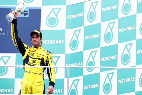 Sepang, Kuala Lumpur, Malaysia. 25th March 2012. Sunday Race.Felipe Nasr (BRA, Dams).World Copyright: Alastair Staley/GP2 Series Media Service.Ref: Digital Image AS5D7685.jpg