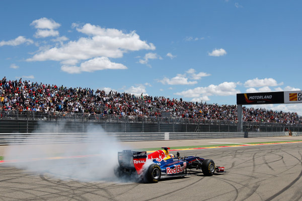 ALCANIZ (ESP) MAY 4-6 2012 -  First Round of the Formula Renault 3 5 Series 2012 at Motorland Aragon. Red Bull driver Jean Eric Vergne (FRA) gives a F1 demonstration. Action. © 2012 Ronald Fleurbaaij / LAT Photographic