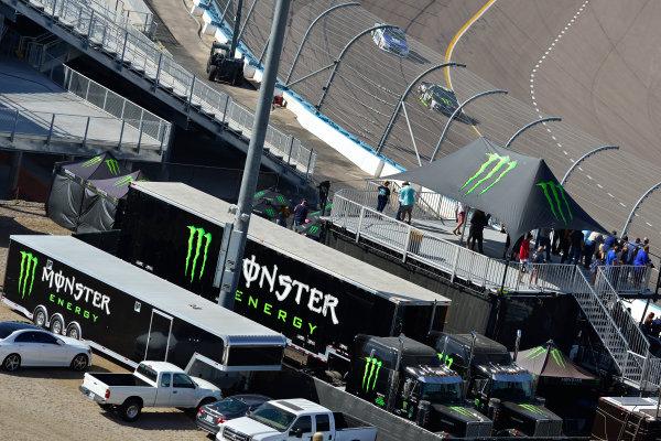 Monster Energy NASCAR Cup Series Can-Am 500 Phoenix Raceway, Avondale, AZ USA Sunday 12 November 2017 Kurt Busch, Stewart-Haas Racing, Monster Energy/Haas Automation Ford Fusion, Monster Energy hospitality  World Copyright: Logan Whitton LAT Images