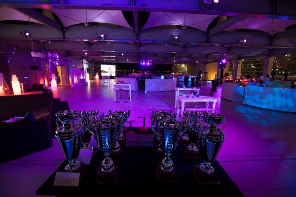 2017 Awards Evening. Yas Marina Circuit, Abu Dhabi, United Arab Emirates. Sunday 26 November 2017. Trophies Photo: Sam Bloxham/FIA Formula 2/GP3 Series. ref: Digital Image _W6I4446