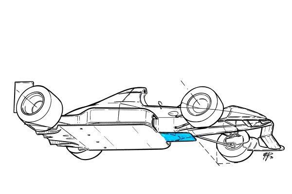 Tyrrell 019 1990 tea tray floor