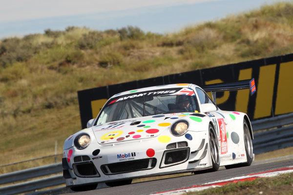 2013 British GT Championship, Zandvoort, The Netherlands. 6th - 8th September 2013. David Ashburn / Nick Tandy Trackspeed Porsche 997 GT3R. World Copyright: Ebrey / LAT Photographic.