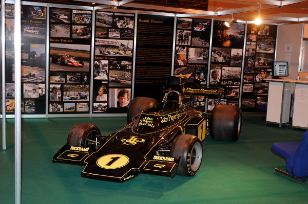 NEC, Birmingham. 8th January 2009.An ex-Ronnie Peterson Lotus 72 Ford Cosworth on the LAT stand in the historic hall.World Copyright: Jeff Bloxham/LAT Photographicref: Digital Image DSC_4947