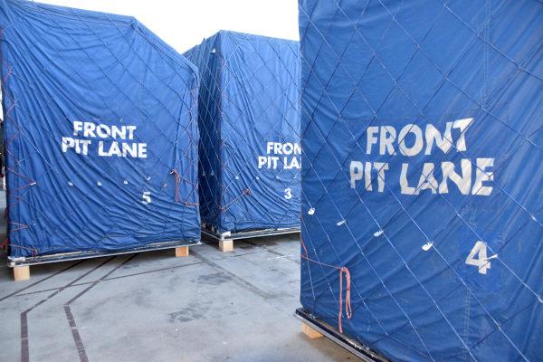 Pitlane freight waits to be unpacked at Albert Park. Formula One World Championship, Rd1, Australian Grand Prix, Preparations, Albert Park, Melbourne, Australia, Sunday 9 March 2014.