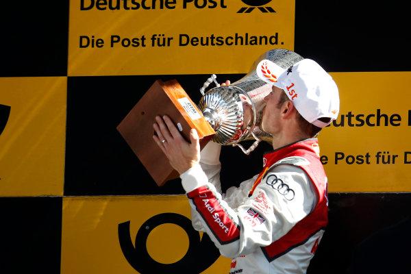 2017 DTM Round 2 Lausitzring, Germany. Sunday 21 May 2017. Podium:  Race winner Jamie Green, Audi Sport Team Rosberg, Audi RS 5 DTM World Copyright: Alexander Trienitz/LAT Images ref: Digital Image 2017-DTM-R2-ESL-AT1-4694