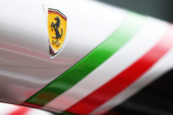 Albert Park, Melbourne, Australia. Wednesday 22 March 2017. Ferrari pit gantry detail  World Copyright: Sam Bloxham/LAT Images ref: Digital Image AJ6I0020