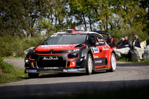 2017 FIA World Rally Championship, Round 04, Rallye de France, Tour de Corse, April 06-09, 2017, Stephane Lefebvre, Citroen, action Worldwide Copyright: McKlein/LAT