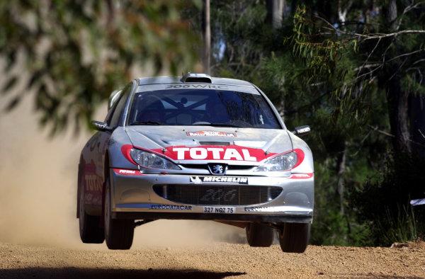2001 World Rally ChampionshipTelstra Rally Australia, Perth, WA. 1-4 November 2001.Harri Rovanpera during shakedown.Photo: Ralph Hardwick/LAT