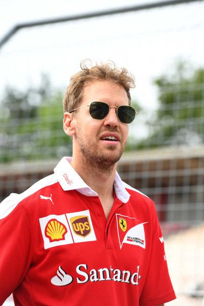 Sebastian Vettel (GER) Ferrari at Formula One World Championship, Rd12, German Grand Prix, Preparations, Hockenheim, Germany, Thursday 28 July 2016.