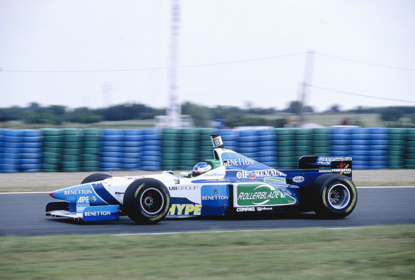 1996 French Grand Prix.Magny-Cours, France. 28-30 June 1996.Jean Alesi (Benetton B196 Renault) 3rd position.Ref-96 FRA 26.World Copyright - LAT Photographic