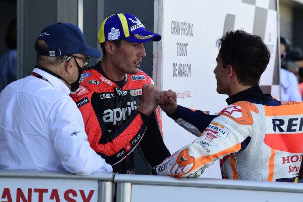 Aleix Espargaro, Aprilia Racing Team Gresini, Marc Marquez, Repsol Honda Team.
