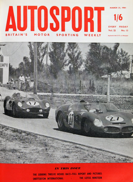 Cover of Autosport magazine, 31st March 1961