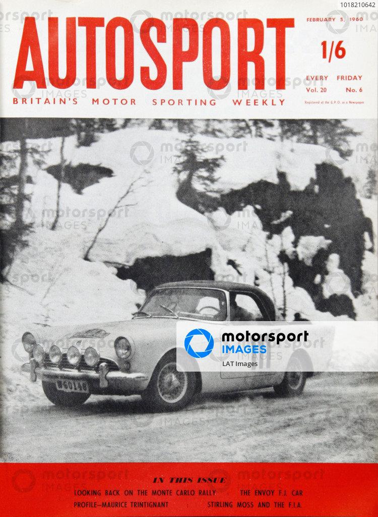 Cover of Autosport magazine, 5th February 1960