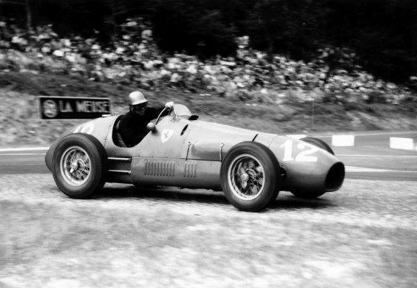 1952 French Grand Prix.Rouen-les-Essarts, France. 4-6 July 1952.Piero Taruffi (F2 Ferrari 500) 3rd position.World Copyright - LAT Photographic