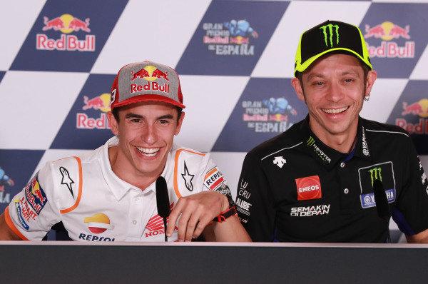Marc Marquez, Repsol Honda Team, Valentino Rossi, Yamaha Factory Racing.